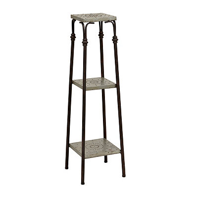 Industrial Galvanized 3-Tier Metal Shelf