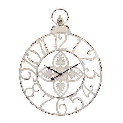 Clare Cream Metal Clock