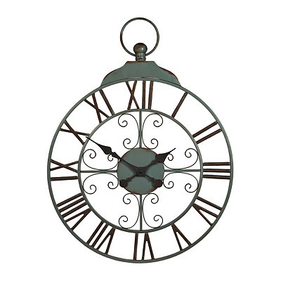 Clare Turquoise Metal Clock