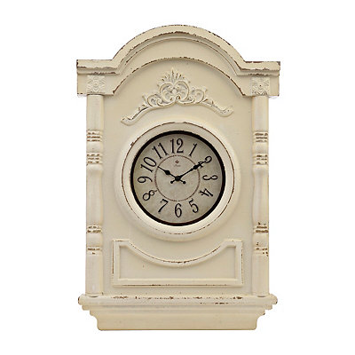 Nora White Ornate Clock