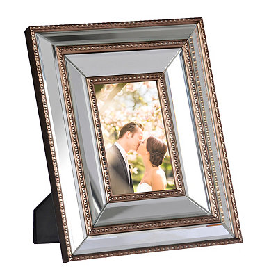 Natural Charm Doubled Mirrored Picture Frame, 4x6
