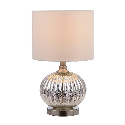Fluted Round Mercury Glass Table Lamp