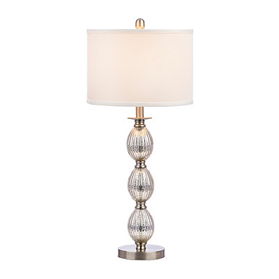 Fluted Fonts Mercury Glass Table Lamp