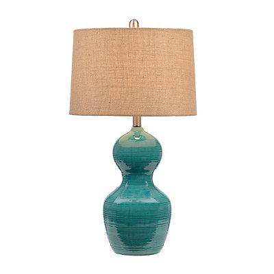 Teal Double Gourd Table Lamp