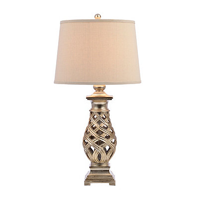 Silver Open Weave Table Lamp