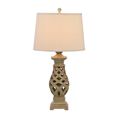 Mint Open Weave Table Lamp