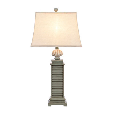 Weathered Green Coastal Table Lamp