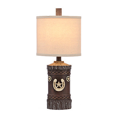 Western Horseshoe Table Lamp