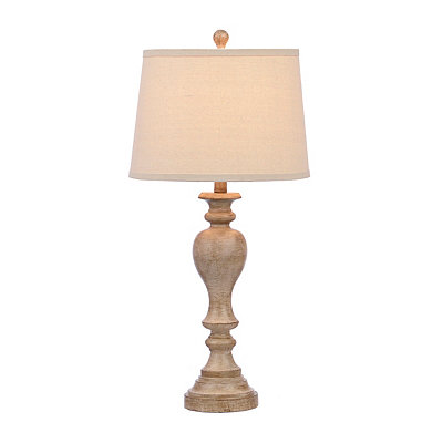 Weathered White Bishop Table Lamp