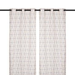 Navy Pluto Curtain Panel Set, 84 in.