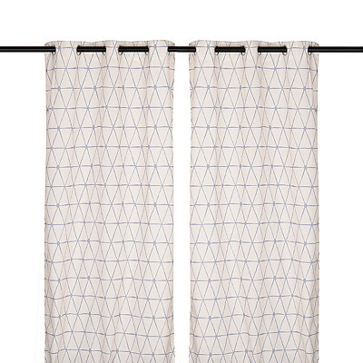 Navy Pluto Curtain Panel Set, 96 in.