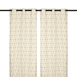 Taupe Pluto Curtain Panel Set, 84 in.