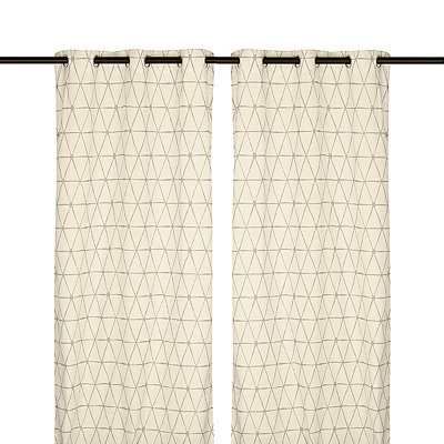 Taupe Pluto Curtain Panel Set, 96 in.