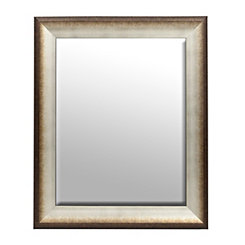 Burnished Snow Framed Mirror, 30x36 in.
