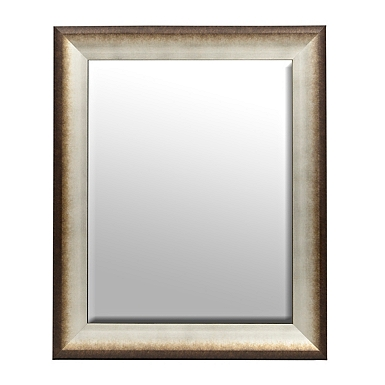 burnished snow framed mirror 30x36 in