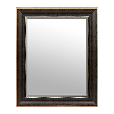 Dark Rustic Burlwood Framed Mirror, 30x36 in.