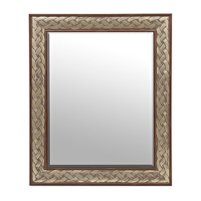 Silver Braided Mirror
