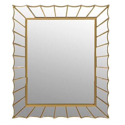Gold Mirrored Deckeled Edge Mirror