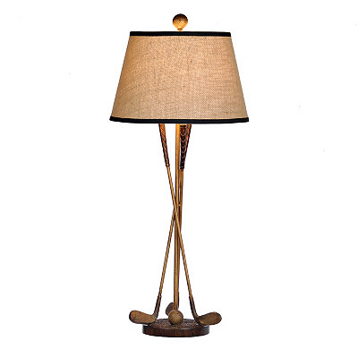 Golf Clubs Table Lamp