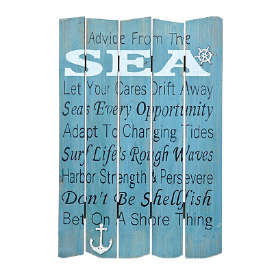 Advice From the Sea Wood Plank Plaque