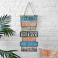 Deck Rules Hanging Wood Plank Plaque