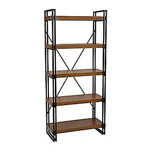 Industrial Wood and Metal Shelf