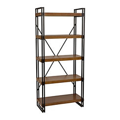 Industrial Wood and Metal Shelf