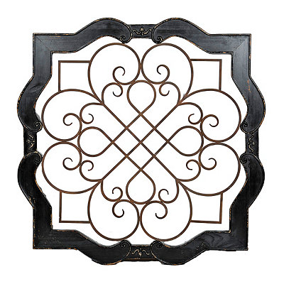 Distressed Black Isabelline Wooden Plaque