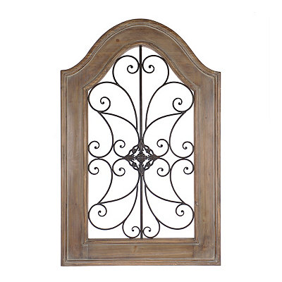 Natural Arch Wood and Metal Wall Plaque
