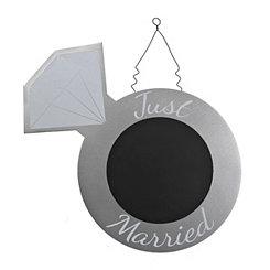 Just Married Chalkboard Hanger
