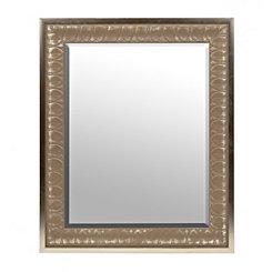 Silver Floral Petal Mirror