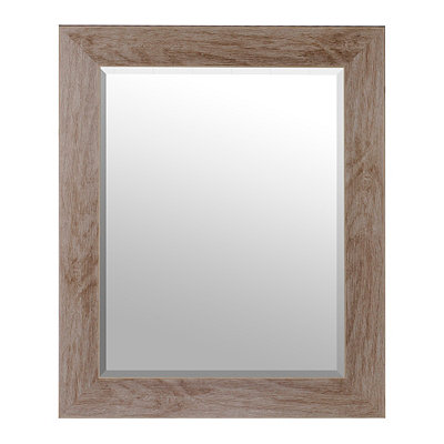Whitewash Framed Mirror, 30x36 in.