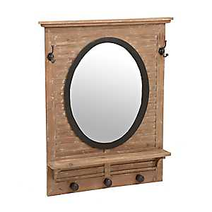 Natural Shutter Mirror with Hooks