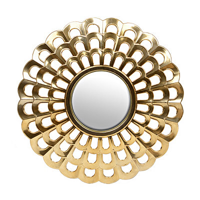 Gold Royal Fan Mirror