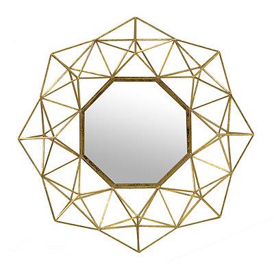 Brushed Gold Geometric Mirror