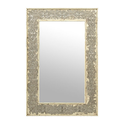 Galvanized Tile Framed Mirror, 32x48.5 in.