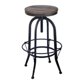 Black Industrial Bar Stool