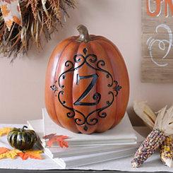 Orange & Black Monogram Z Pumpkin