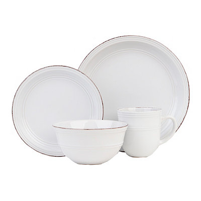 White Madelyn 16-pc. Dinnerware Set