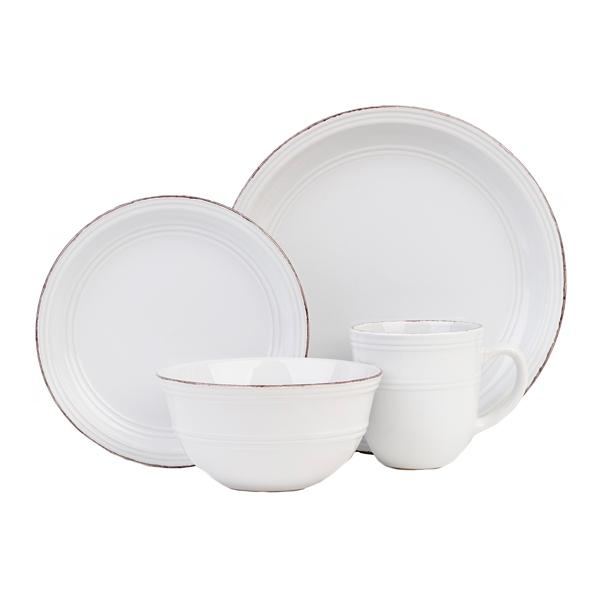 white madelyn 16pc dinnerware set