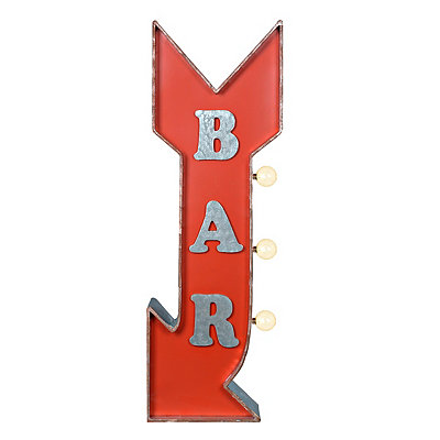 LED Bar Arrow Metal Plaque