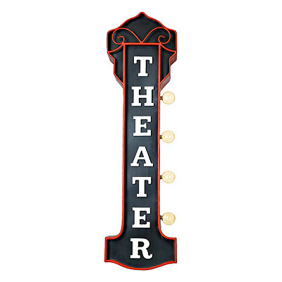 LED Vintage Theater Sign Metal Plaque