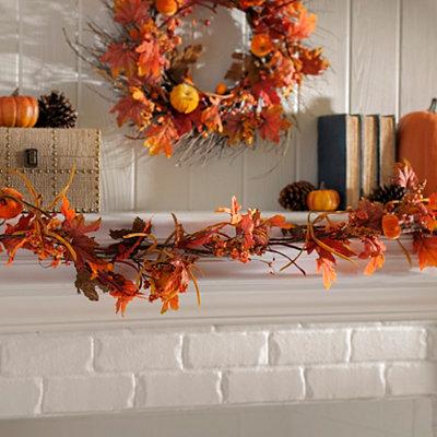 Velvet Pumpkin Garland