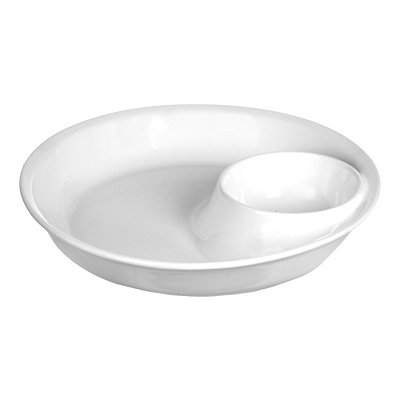 Smooth White Chip and Dip Bowl