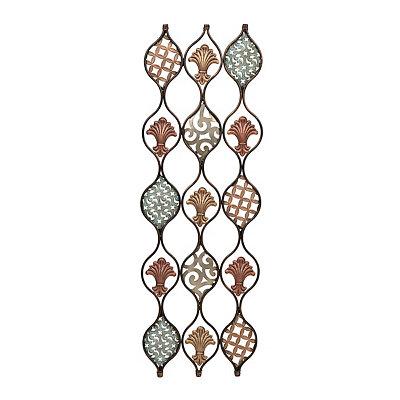 Copper Maisha Fleur-de-Lis Wall Plaque