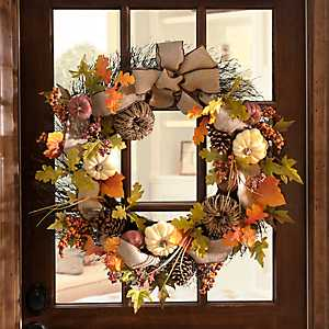 Natural Pumpkin Wreath