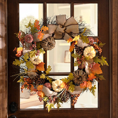 Natural Pumpkin Wreath