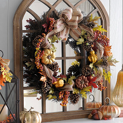 Metallic Pumpkin Mix Wreath
