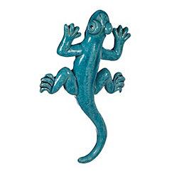 Blue Ceramic Lizard Wall Plaque