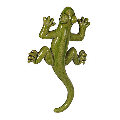 Green Ceramic Lizard Wall Plaque